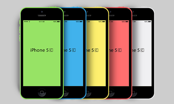New iPhone 5C PSD