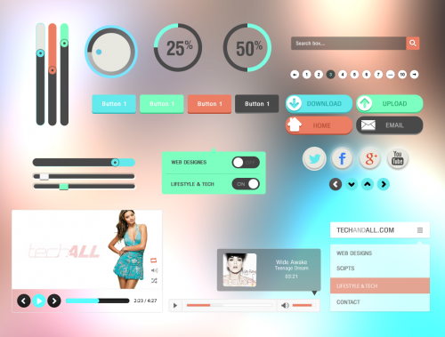 Colorful-Flat-UI-Kit-PSD-500x379