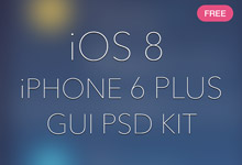 IOS 8 iPhone 6 Plus(PSD免费下载)