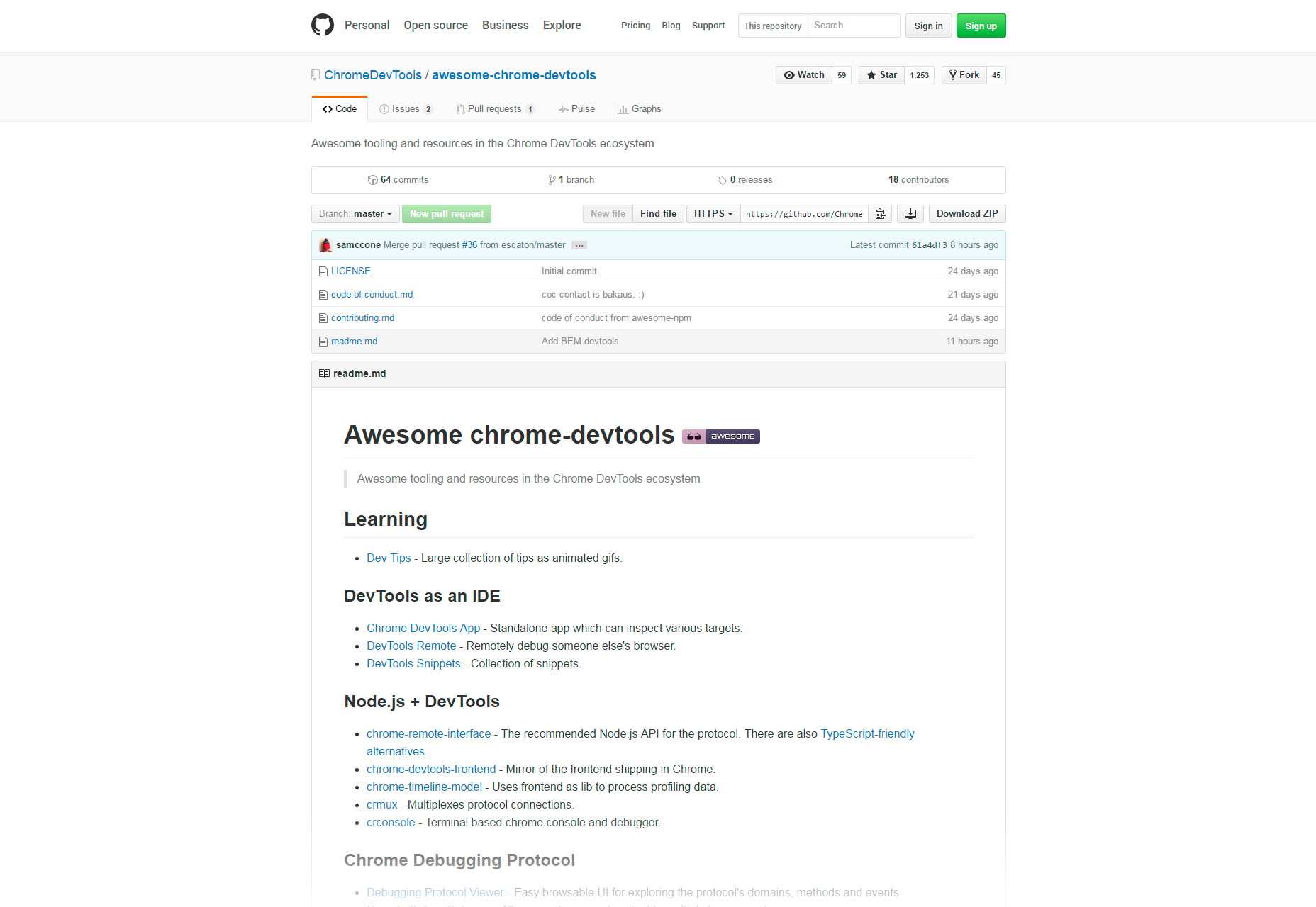 awesome-chrome-development-tools-resources-
