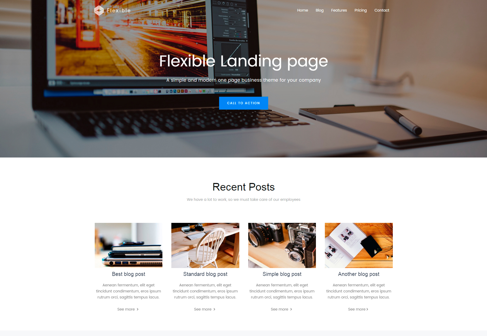 flexible-clean-bootstrap-landing-page