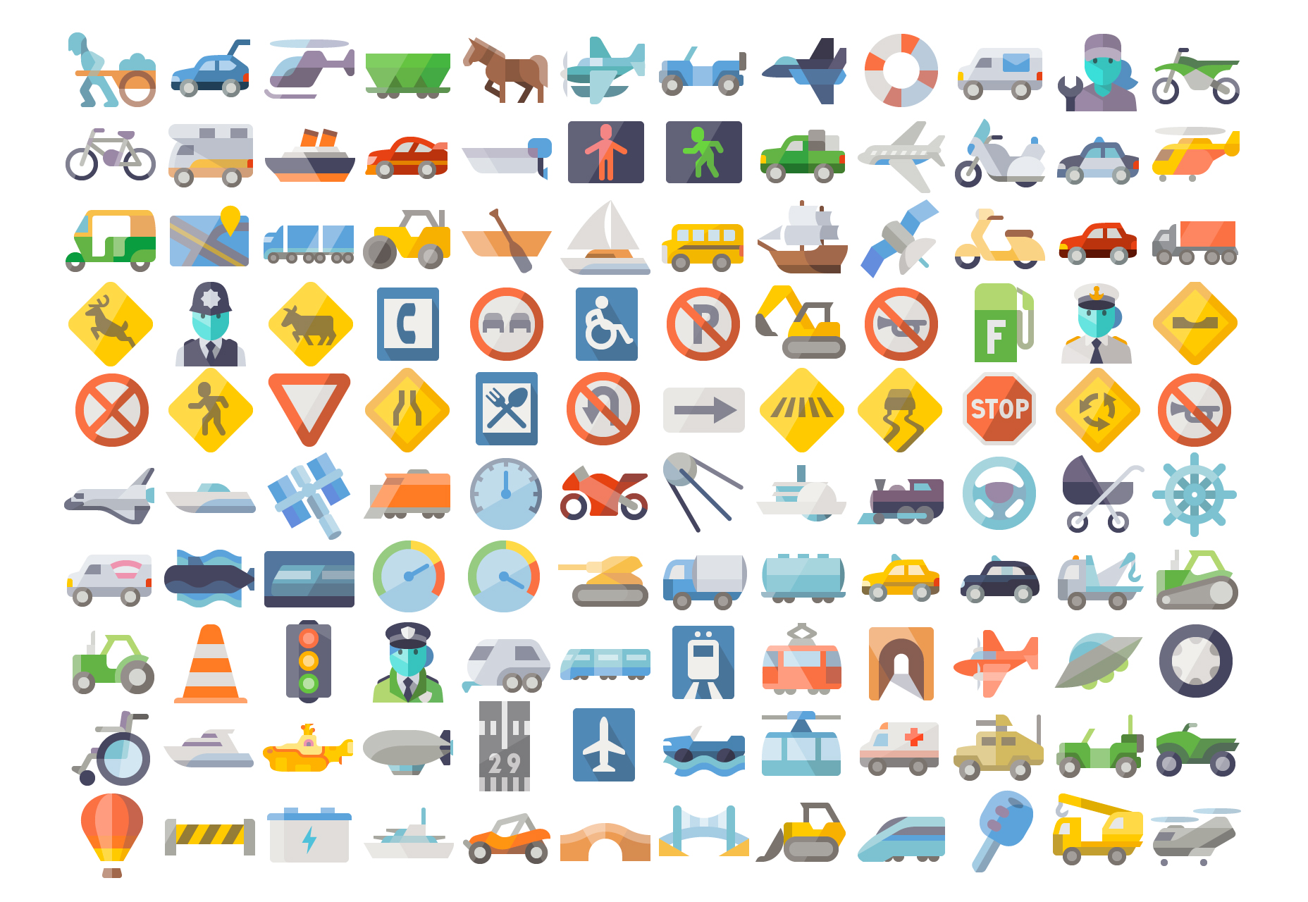 neat-flat-transportation-vector-icons