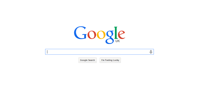 whitespace example Google homepage