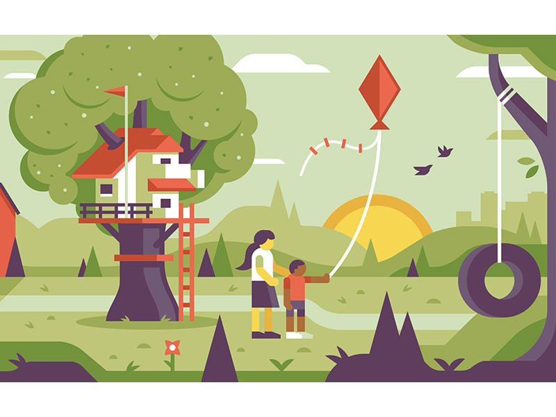 Treehouse and Kite