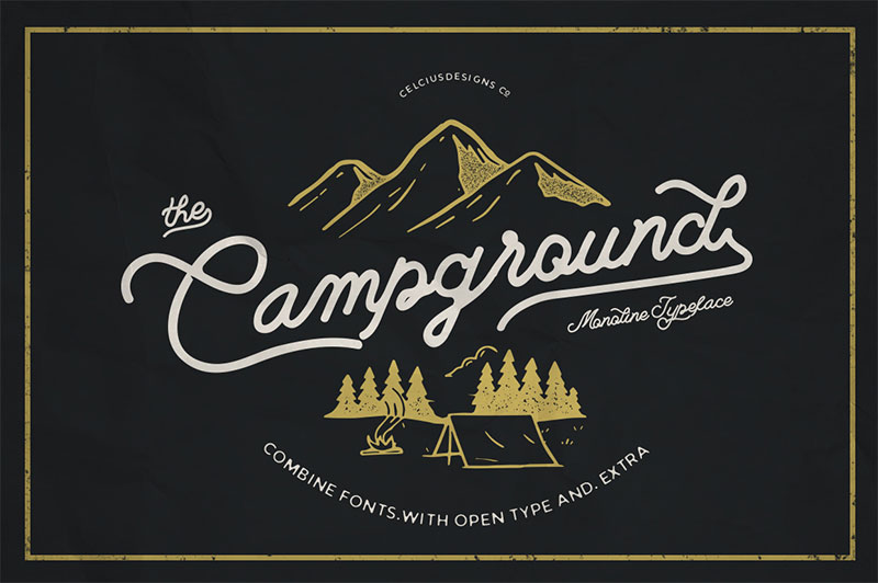 campground-free-font