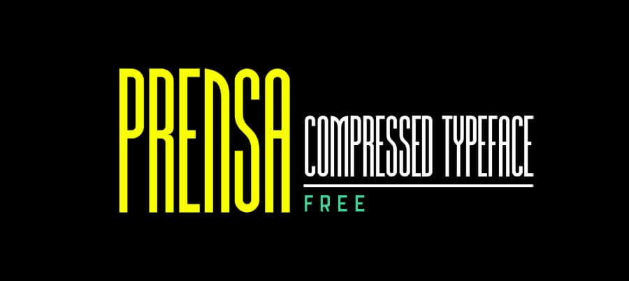 prensa-compressed-typeface