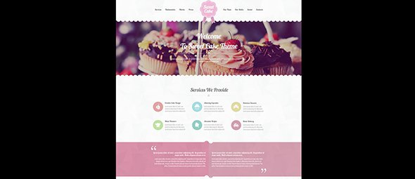 Sweet Cake Pastel Websites