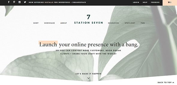 Pastel Websites Squarespace WordPress Themes