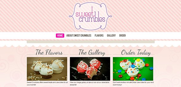 Sweet Crumbles Pastel Websites