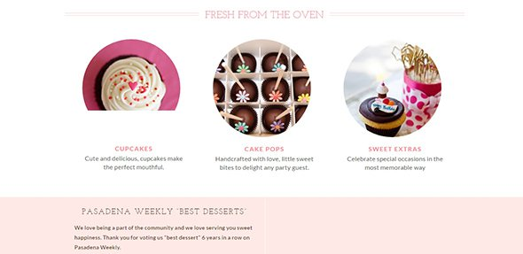 dots cupcakes Pastel Websites
