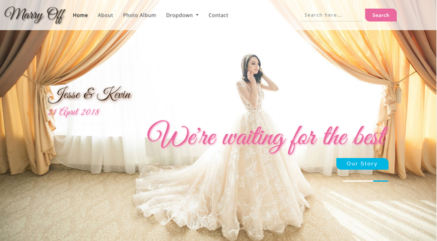 Free Jess & Russ Wedding Website Example