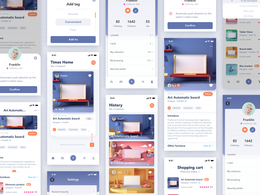 what is a card ui design